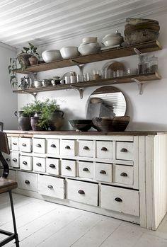 7 Popular Home Decor Trends: 2020 Edition Swedish Interior Design, Swedish Decor, Swedish Interiors, Swedish Style, Shabby Chic Decor, Rustic Decor, Kitchen Dining, Kitchen Decor, Furniture Decor