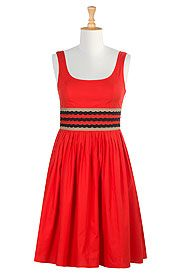 Graphic scallop banded waist dress  on discounted price from eShakti.com. Use coupon and promo codes.