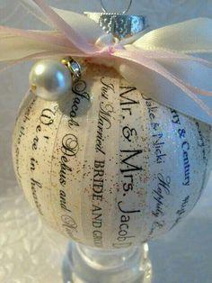Christmas wedding ornament ♡ Svatební vánoční ozdobička na stromek :-)