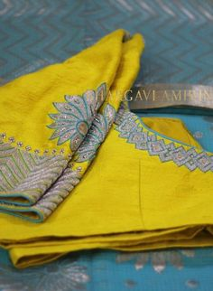 designer zardosi blouse collection from bhargavi amirineni Cutwork Blouse Designs, Simple Blouse Designs, Stylish Blouse Design, Bridal Blouse Designs, Blouse Neck Designs, Nice Designs, Blouse Styles, Blouse Designs Catalogue, Designer Blouse Patterns
