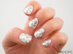 How-to: Snow leopard print nail design