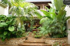 spanish style frontyard ideas | Spanish Style Home James Glower Backyard Fountain | Decorclips.com