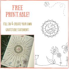 Free gratitude printable available @ bohoberry.com