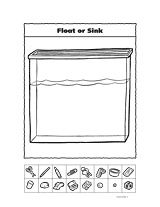 Float or Sink Worksheet- so much better for kindergarteners than the one I made
