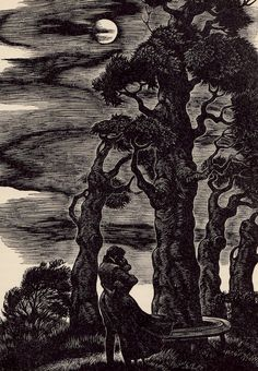 Jane Eyre by Charlotte Bronte, with wood engravings by Fritz Eichenberg (1943)