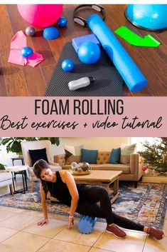 Sharing tips on how to foam roll safely, why it's important, plus my favorite exercises. Check out the post for a full follow-along video!   Fitnessista Videos   Full Body Workout Routine, Workout Routines For Beginners, Home Exercise Routines, Body Workouts, Benefits Of Foam Rolling, Gym For Beginners, Easy At Home Workouts, No Equipment Workout, Fitness Equipment