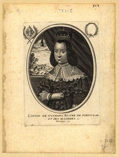 Louise de Gusmans, Royne de Portugal et des Algarbes, etc. [Visual gráfico]. - [S.l.] : Moncornet ex. [entre 1640 e 1660]. - 1 gravura : buril, p&b ; 15,9x11,6 cm (matriz)
