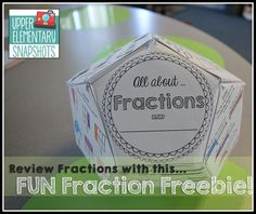 Fun Fraction Review Project -  a FREE dodecahedron project