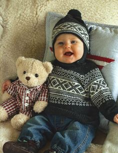 Ravelry: 22908 Baby Pullover pattern by Dale Design Needlepoint Stockings, Knit Stockings, Knitting For Kids, Baby Knitting Patterns, Knit Crochet, Crochet Hats, Knitted Baby, Kids Patterns, Crochet Clothes
