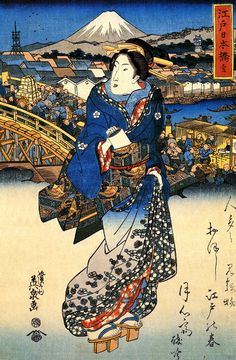 渓斎英泉 (1790-1848) 「江戸日本橋」