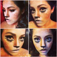 Deer fawn Halloween makeup 2014 easy Halloween makeup idea
