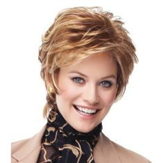 Vantage Point Wig - This cool, light and layered collar-length shag works as well in the boardroom as it does on the boardwalk! The hand-knotted top and sheer lace front offer off-the-face styling options. Find this style & more @ thewigcompany.com