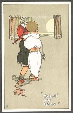 MABEL LUCIE ATTWELL- Mr Moon postcard