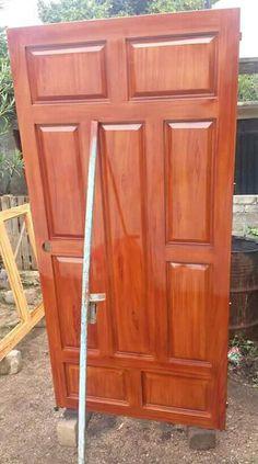 House Main Door Design, Wooden Front Door Design, Wood Front Doors, Door Design Interior, Wooden Doors, Interior Doors, Entry Doors, Contemporary Doors, Window Styles