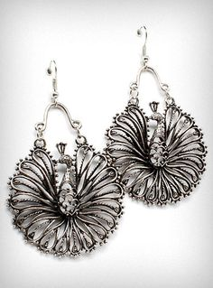 `.Peacock Panache Earrings. Bit bigger than I'd normally wear. Another Collection Maybe?