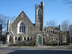This beautiful, historic church is Rosedale United Church in Toronto Ontario