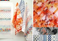Rachel Parker is a textile design who uses stitch and digital print