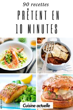 90 recipes that are ready in 10 minutes! Quick Recipes, Healthy Recipes, Morrocan Food, Batch Cooking, Food Dishes, Food Videos, Nutrition, Good Food, Easy Meals