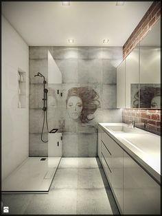 Mieszkanie w starej kamienicy - Średnia łazienka w bloku bez okna, styl minimalistyczny - zdjęcie od CUDO - grupa projektowa