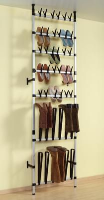 Dazzling Design Shoe Racks Ideas With Wall Mount Metal Shoes Storage And Tiered Plus Cream Paint Color