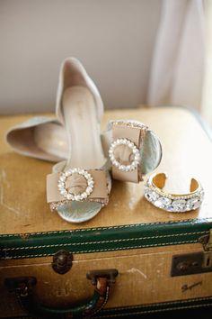 pretty pearl heels | Happy Everything Co #wedding