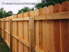 Solid Dog Ear Wood Fence Panels Straight Top Cedar