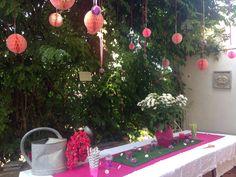 EVJF #WEDDING #PINK BUFFET ROSE BOULES FLEURS FLOWER PARTY