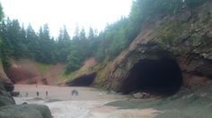 The sea caves at St. Martins, one of the spots suggested as a good choice for a UNESCO World Heritage Site in New Brunswick. New Brunswick, World Heritage Sites, Caves, Canada, Sea, Cave, The Ocean, Blanket Forts, Ocean
