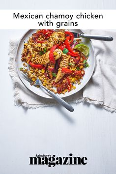 This tasty chicken recipe has a delicious apricot, chilli and lime marinade and uses a variety of fibre-rich wholegrains. Get the Sainsbury's magazine recipe Quick Snacks, Quick Easy Meals, Curry In A Hurry, Magazine Recipe, Midweek Meals, Tasty, Yummy Food, Yummy Chicken Recipes, Grain Foods