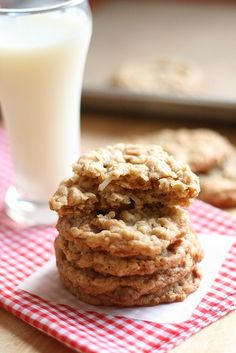 Peanut Butter Coconut Oatmeal Scotchies Final 4 by laurenslatest, via Flickr