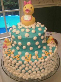 ducky baby shower cake