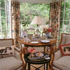 Pink buffalo checks chair mixed with French toile fabric in kitchen seating area, mom sofa upholstery idea, mom buffalo check chairs pink Interior Designer Charles Faudree: French Flair - Traditional Home®Love the hen…