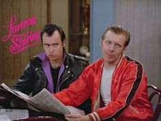 Lenny and Squiggy, in the midst of their own stupidity, still reject yours. Michael Mckean, Penny Marshall, Cindy Williams, Laverne & Shirley, Mork & Mindy, Funny Character, Classic Tv, Gay Couple