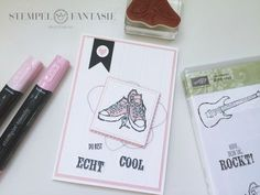 BlogHop PaStello: Coole Karten für echt coole Typen Baby Cards, Stampin Up Cards, Birthday Cards, Card Making, Cool Stuff, How To Make, Kids, Crafts, Sneaker