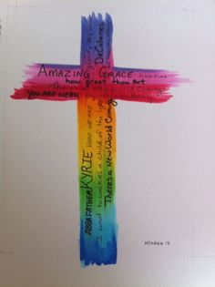 The title of songs are in the cross. Using copic markers illustration Walk To Emmaus, Copic Markers, Christian Life, Christianity, Clip Art, Symbols, Faith, Songs, Crafty