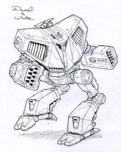 Battle Cobra mech sketch by Mecha-Zone on deviantART