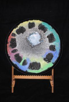 Made during listening music Art Object, Skin Art, Drum, Objects, Sculpture, Chair, Music, Artwork, Home Decor