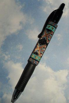 Copper Topper G2 Beaded Pen Wrap by SoaringHawkTraders on Etsy