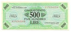 500 LIRE - serie 1943 A - #scripomarket #scripobanknotes #scripofilia #scripophily #finanza #finance #collezionismo #collectibles #arte #art #scripoart #scripoarte #borsa #stock #azioni #bonds #obbligazioni