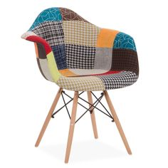 The WOODEN ARMS patchwork chair is a unique design piece, being extremely comfortable at the same time. Toddler Table And Chairs, Garden Table And Chairs, Dining Table Chairs, Upholstered Dining Chairs, Desk Chairs, Bar Chairs, Room Chairs, Bar Stools, Sofa Design