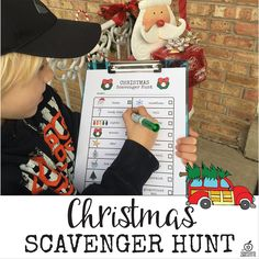Christmas scavenger hunt idea