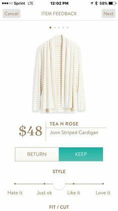 Tea N Rose John Striped Cardigan Stitch Fix
