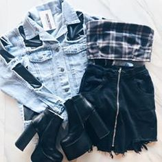 Perfect outfit idea to copy ♥ For more inspiration join our group Amazing Things ♥ You might also like these related products: - Jeans ->. Kpop Outfits, Outfits For Teens, Girl Outfits, Fashion Outfits, Womens Fashion, Fashion Trends, Fashion Clothes, Cute Summer Outfits, Stylish Outfits