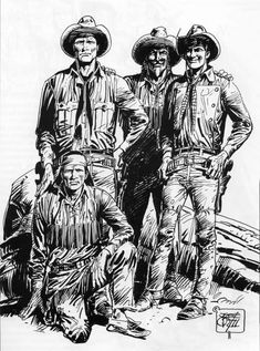Global Press™: Tex Willer e Kit Carson U2 Poster, Westerns, Sergio Leone, Tinta China, Comic Drawing, Western Movies, Art Store, Western Art, Native American Art