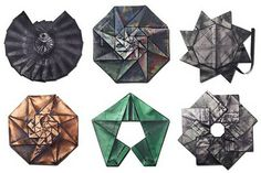 """Japanese fashion innovator  Issey Miyake and his R&D design group, the Reality Lab, have created a line of eco-conscious """"origami clothing"""" made from recycled PET fabric. Each garment is made from a single piece of fabric, which is folded flat into one of ten basic collapsible patterns."""
