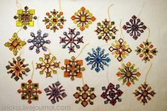 Fused glass snowflakes by Sirikss