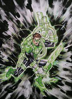 Green Lantern Geared Up by SaviorsSon on DeviantArt Green Lantern 2011, Green Lantern Comics, Green Lantern Hal Jordan, Green Lanterns, Superhero Characters, Comic Book Characters, Dc Comics Art, Marvel Dc Comics, Green Lantern Characters
