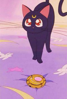 аниме, кот, Япония, пастель, Сейлор Мун, мягко