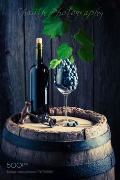 Red Wine & Grapes by shaiith IFTTT 500px