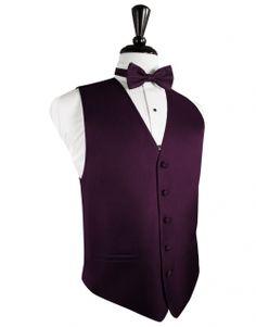 Classic Sangria Herringbone Tuxedo Vest